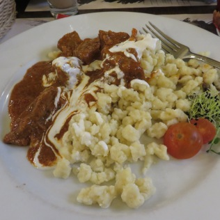 spaetzle and beef
